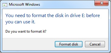 Do you want to format it?