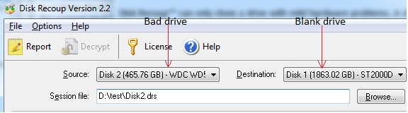 Clone the bad drive to a blank drive